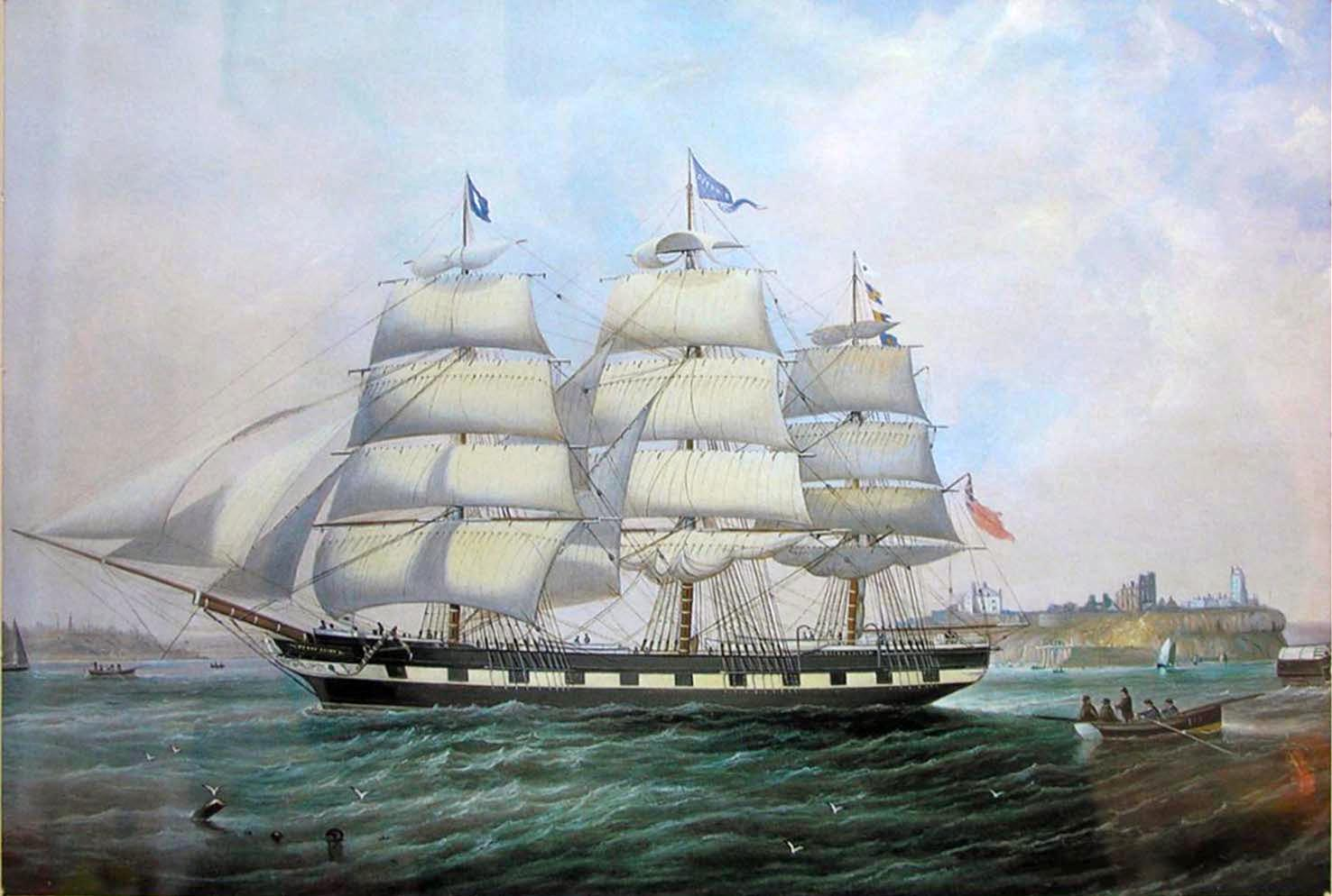 Barque Ocean Pride 1865 painting by John Scott 1802 1885