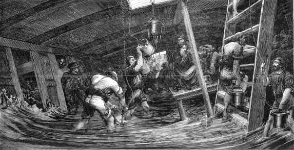 SS Somersetshire between decks in a storm 18th November 1873 copy